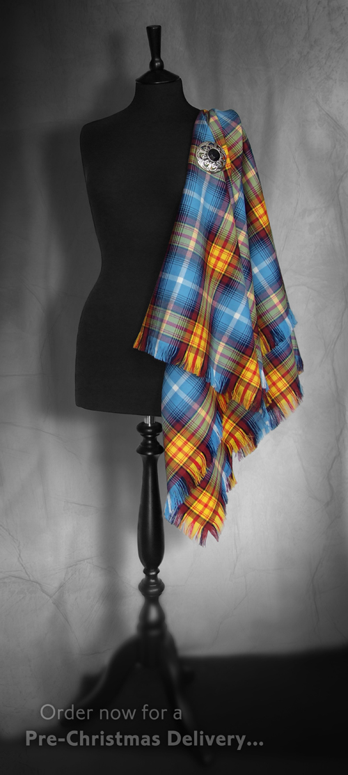 Declaration Tartan Shawl ...the second batch of 100, NUMBERED SHAWLS!